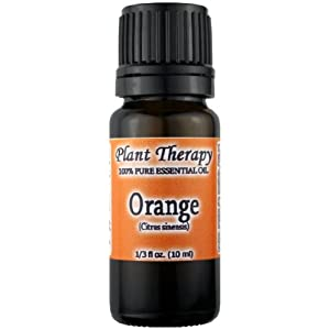 Image: Orange Essential Oil. 10 ml. 100% Pure, Undiluted, Therapeutic Grade - This variety has a sweet vaguely anise-like, mint, smoky odor