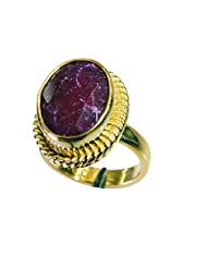 Riyo Red Pretty Indi Ruby 18c Gold Plated Toe Ring Jewelry Women 14 Gpriru7-34067