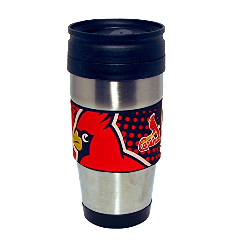 mlb-st-louis-cardinals-stainless-steel-travel-tumbler-with-pvc-wrap-15-ounce-team-color-by-hunter-mf