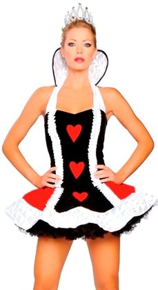 Deluxe Sexy Queen of Hearts Adult Costume ML