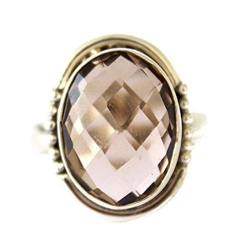 Anello in argento sterling moda per le donne CHARME SMOKY-TOPAZ ANELLO A MANO ANELLO DA ARTIGIANI