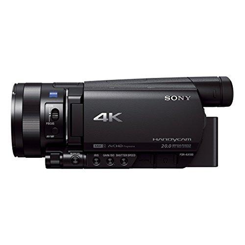 Sony-FDR-AX100E-4K-Ultra-HD-Camcorder-89-cm-35-Zoll-Display-24p25p50p50i-Full-HD-Aufnahmen-4K-in-24p25p-eingebauter-ND-Filter-schwarz