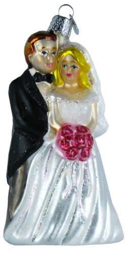 Old World Christmas Bridal Couple Glass Blown Ornament