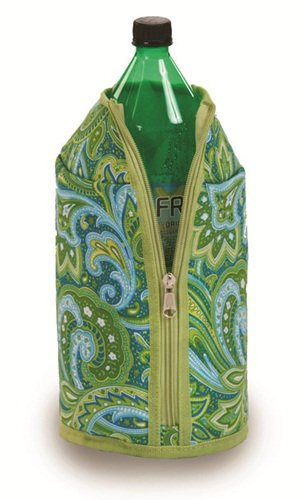 Picnic Plus 2 Liter Jacket Green Paisley 6 X 11 - Picnic Plus Psm-713Gp front-630325