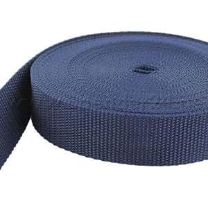 10m PP Gurtband - 15mm breit - 1,2mm stark - dunkelblau (UV)