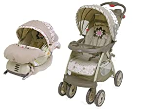 new baby trend gabriella stroller infant car seat travel system pink for girl baby. Black Bedroom Furniture Sets. Home Design Ideas