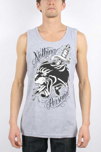 Famous Stars and Straps - Mens Nothing Personal Tank Top in Athletic Heather, Size: XX-Large, Color: Athletic Heather