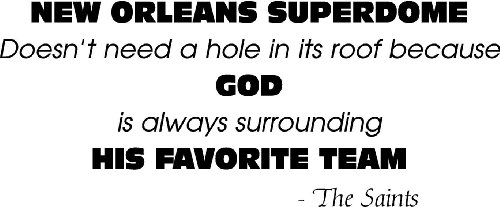 New Orleans Saints Superdome Wall Art Vinyl Decal Sticker, Black at Amazon.com