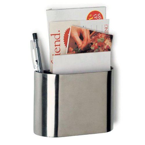 Amco Stainless Steel Magnetic Pocket Organizer with Note Pad and Pen