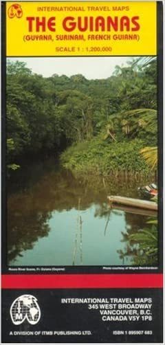 The Guianas map (Guyana/ Surinam/French Guiana) (Travel Reference Map)
