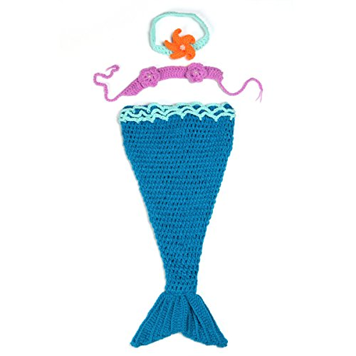 Foxnovo Handmade Wool Weave a Mermaid Baby Props