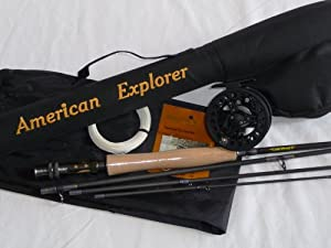 American Explorer IM7 Fly Rod Outfit, 9.0-Feet by American Explorer