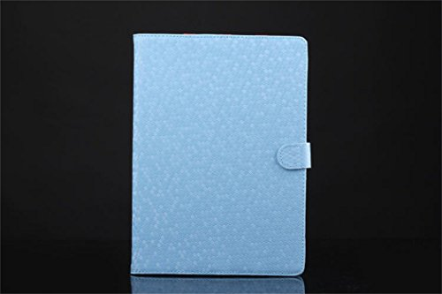 Apple Ipad Air 2 Case Borch Fashion Luxury Multi-Function Protective Crystal Series Leather Light-Weight Folding Flip Smart Case Cover For For Ipad Air 2 (Sky Blue)