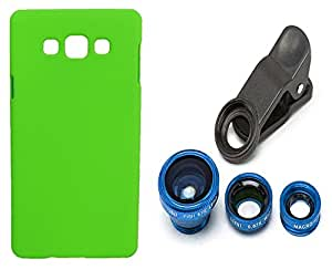 Toppings Hard Case Cover With Universal Clip Lens For Samsung Galaxy A8 - Green