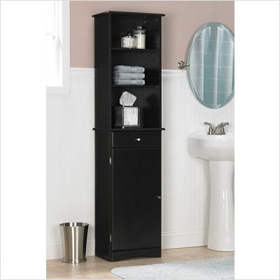Ameriwood Bathroom Storage Cabinet in Espresso Finish