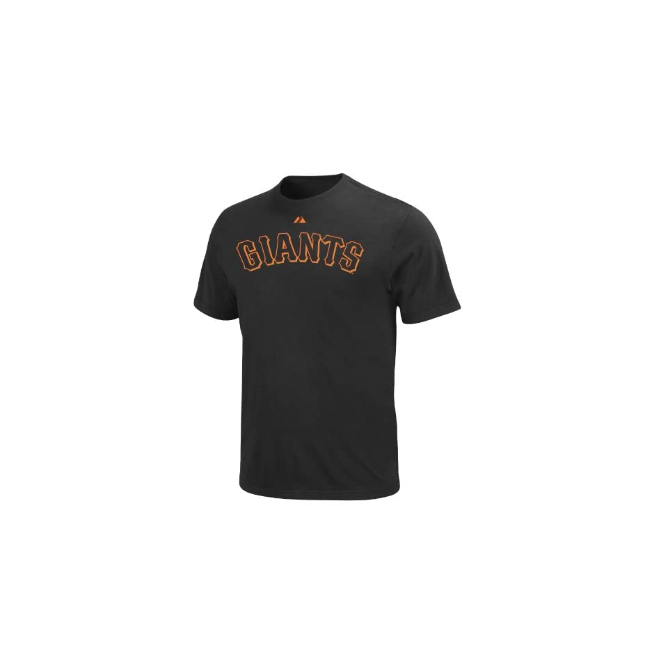 MLB San Francisco Giants Buster Posey Official Name & Number T shirt by Majestic (Black, Small)