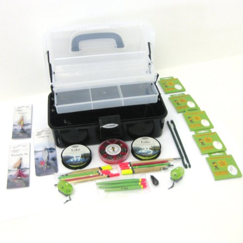 FTD Fladen Coarse Fishing Tackle Box - line, weights, hooks, floats, Spinner lures & disgorgers