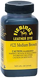 Fiebing\'s Leather Dye, Medium Brown, 4 oz.