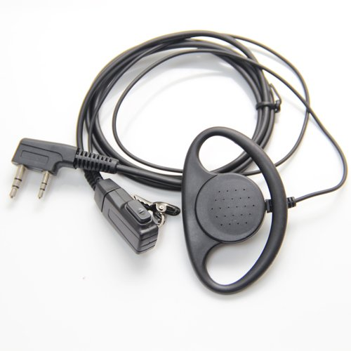 Kit Earloop Auricular Con Micrófono PTT Para 2 pin Kenwood HYT PUXING WOUXUN LINTON Walkie Talkie