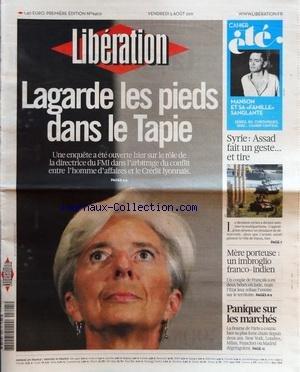 liberation-no-9402-du-05-08-2011-lagarde-les-pieds-dans-le-tapie-enquete-dans-larbitrage-du-conflit-