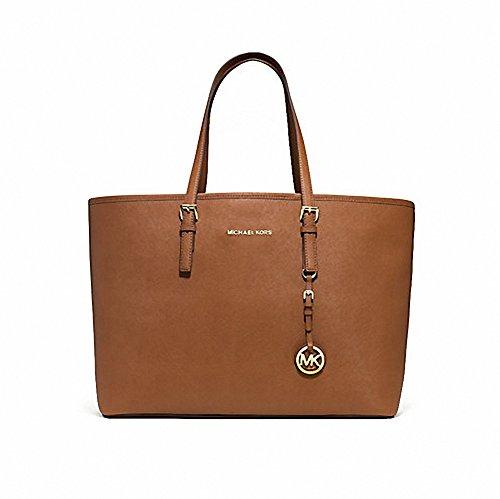 (マイケルコース) MICHAEL KORS ジェットセット トラベル ミディアム SAFFIANO レザー トート バッグ Jet Set Travel Medium Saffiano Leather Tote Bag (並行輸入品) (ZIGUMALL)