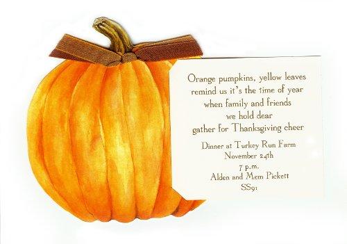 Pumpkin Die-Cut Card, Pack Of 10 front-409078