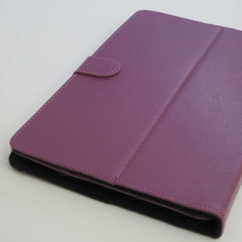 Worldwide 10.1 Inch Tablet Case Cover Pu Leather Folio Kind Fits Kocaso MID M1063w / M1050 (PURPLE)