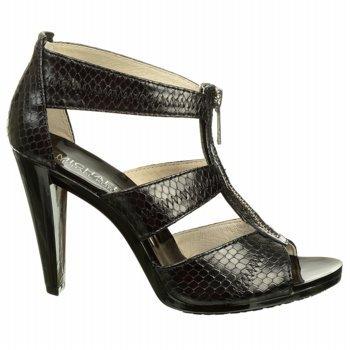 MICHAEL Michael Kors Women's Berkley T-Strap Sandal Black Snake 6 M US