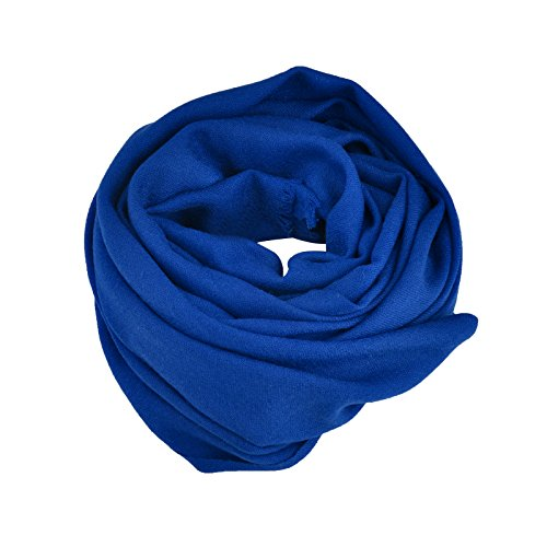 Smartodoors Woven Pashmina Scarf/Shawl/Wrap/Stole for ladies and women in dark blue