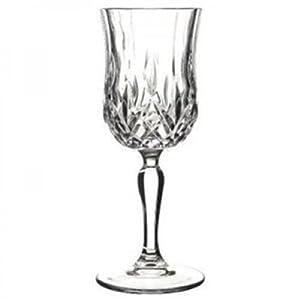 RCR Royal Crystal Rock Crystal Cut Opera Red/White Wine Glasses, Set Of 6 16cl,5.50oz