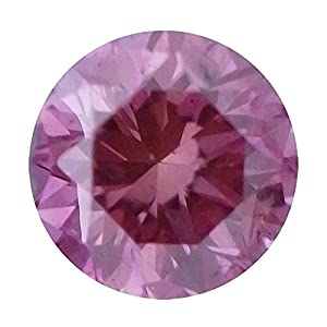 0.50 Carat Total Weight Round Pink SI1 Quality Loose Beautiful Diamond
