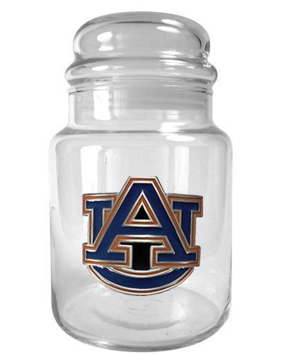 Auburn Tigers Glass Candy Jar