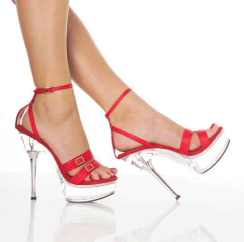 5 1/2 Inch Sexy Red Shoes Stiletto Heel Low Platform