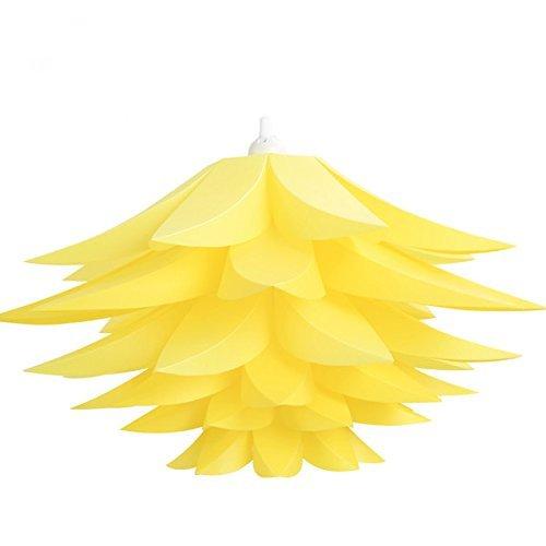 DIY Lotus paralume stile candelabro & Lampadario paralume di sospensione Ceiling Pendant per soggiorno di Natale Camera Ufficio Sala da Pranzo Art Déco illuminazione giallo