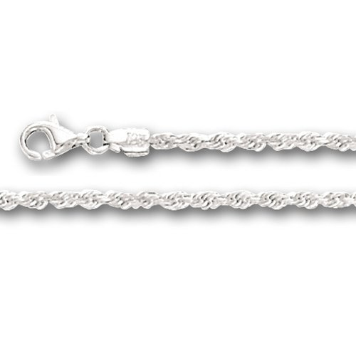 White Gold Rope Chains for Women