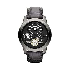 Fossil Herren-Armbanduhr XL Analog Quarz Leder ME1126