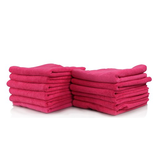 "Chemical Guys Mic_101_12 - Ultra Fine Microfiber Towel, Pink 15"" X 15"" (Pack Of 12) front-634442"