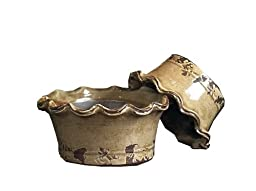 Napa Home & Garden Decorative Ceramic Low Bowls, Mushroom, Set of 2