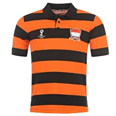 BRAND NEW&OFFICIAL World Cup Soccer 2014 HOLLAND Polo shirt ORANGE with stripes... by FIFA World Cup 2014
