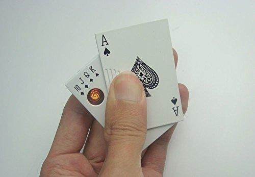 Poker Lighter 1Pc Windproof Electric Cigarette Lighters Rolling Machine Electronic Gadgets Usb Lighter Metal Money Detector