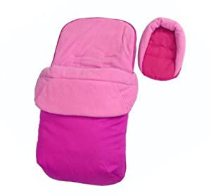 Baby Travel Footmuff & Head Hugger - Plain Pink by BABY TRAVEL