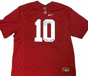 A.J. McCarron Signed Alabama Crimson Tide Nike NCAA Jersey with 3x BCS Champ...