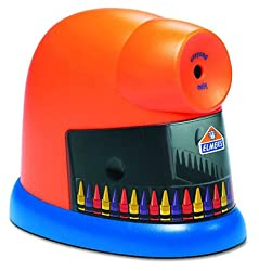 Elmer's CrayonPro Electric Crayon Sharpener, Orange