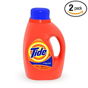 Tide Laundry Detergent, 50 Ounce (Pack of 2)
