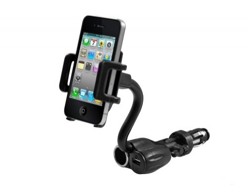 Universal Car Mount Lighter Socket Dock With Usb And Charging Plug For Htc One (All Carriers Including At&T, Sprint, T-Mobile And Unlocked) front-641685