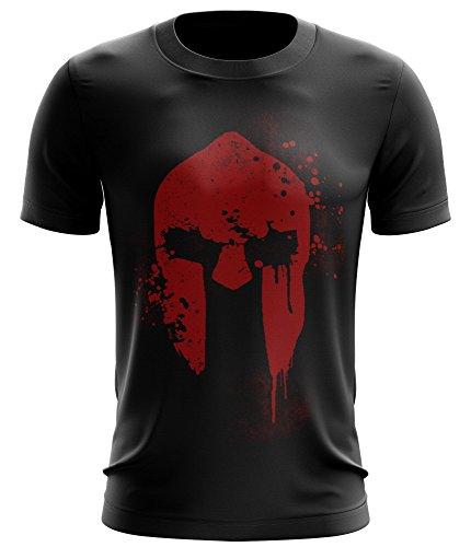 stylotex-fitness-t-shirt-spartan-helmet-funktions-stoff-schnelltrocknend-farbeschwarzgrossem