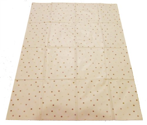 Large Highchair No Mess Splash Mat - Cream With Coffee/Beige Polkadots