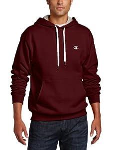 Champion Men's Pullover Eco Fleece Hoodie, Maroon, Medium