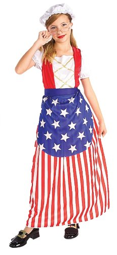 Betsy Ross Child Costume Md 8-10 Kids Girls Costume