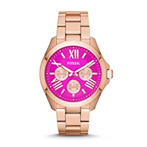Fossil Women's AM4549 Cecile Analog Display Analog Quartz Rose Gold Watch